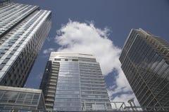 Construções modernas do condomínio na vizinhança de Williamsburg de Brooklyn Imagem de Stock Royalty Free