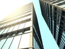 Construções modernas do negócio dos sSkyscrapers da arquitetura Fotos de Stock Royalty Free