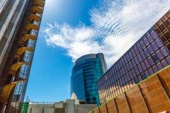 Construções modernas e incorporadas Fotos de Stock Royalty Free