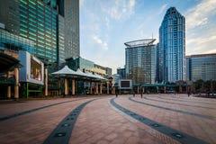 Construções modernas em Banqiao, na cidade nova de Taipei, Taiwan Fotografia de Stock