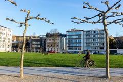 Construções modernas em Dusseldorf, Alemanha Detalhes da arquitetura de Foto de Stock