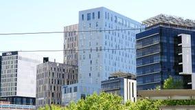 Construções modernas em março diagonal Imagens de Stock Royalty Free