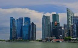 Construções modernas em Marina Bay, Singapura Imagens de Stock