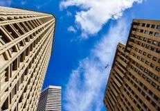 Construções modernas em Seattle, WA fotos de stock