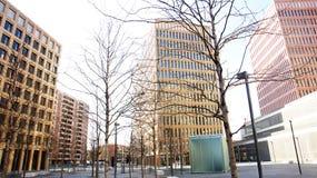Construções modernas na cidade de justiça Fotos de Stock Royalty Free