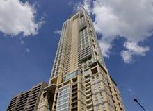 Construções modernas situadas em Quezon em Manila, Filipinas Fotografia de Stock Royalty Free