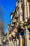 Construções na avenida de Rustaveli de Tbilisi fotos de stock