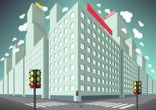 Construções na cidade Ilustração do Vetor