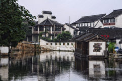 Construções na cidade da água de Tongli Foto de Stock Royalty Free