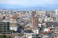Construções na cidade de Nagoya Fotografia de Stock Royalty Free