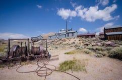 Construções na cidade fantasma abandonada de Bodie California Bodie era uma cidade ocupada, alta da mineração do ouro da elevação imagens de stock