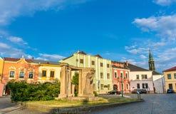 Construções na cidade velha de Prerov, República Checa fotografia de stock royalty free