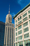 Construções no búfalo do centro - NY, EUA Fotos de Stock Royalty Free