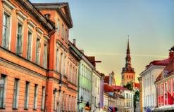 Construções no centro histórico de Tallinn Imagem de Stock Royalty Free