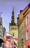 Construções no centro histórico de Tallinn Fotos de Stock