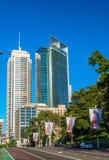 Construções no distrito financeiro central de Sydney, Austrália foto de stock