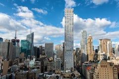 Construções no distrito financeiro da central de Manhattan Fotografia de Stock