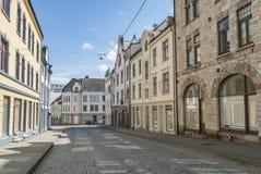 Construções no estilo do art nouveau em Alesund fotos de stock