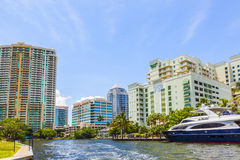 Construções no Fort Lauderdale foto de stock