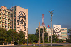Construções no fron do quadrado da revolução, Havana Fotografia de Stock Royalty Free