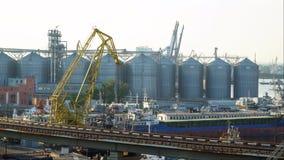 Construções no porto Fotografia de Stock