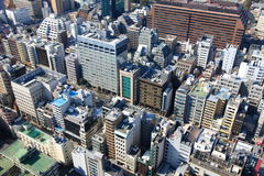 Construções no Tóquio, Japão Imagem de Stock