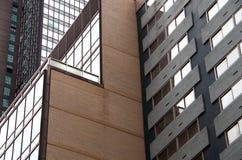 Construções NYC do fundo Fotos de Stock Royalty Free