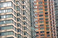 Construções NYC do fundo Fotos de Stock