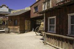 Construções ocidentais velhas do estúdio do filme da cidade Foto de Stock