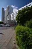 Construções Pharma AG, de administração e de laboratório de Bayer de fármacos dos cuidados médicos de Bayer em Berlim, Alemanha Foto de Stock Royalty Free