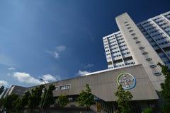 Construções Pharma AG, de administração e de laboratório de Bayer de fármacos dos cuidados médicos de Bayer em Berlim, Alemanha Imagem de Stock Royalty Free