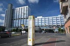 Construções Pharma AG, de administração e de laboratório de Bayer de fármacos dos cuidados médicos de Bayer em Berlim, Alemanha Fotografia de Stock