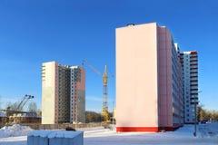 Construções residenciais Fotos de Stock Royalty Free