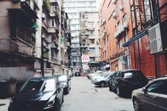 Construções residenciais arquitetónicas modernas em Guangzhou, China imagem de stock