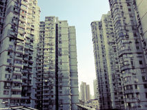 Construções residenciais China do arranha-céus Fotos de Stock Royalty Free