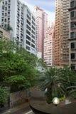 construções residenciais do Multi-andar em Hong Kong Imagens de Stock