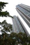 Construções residenciais privadas do Médio-nível de Hong Kong Fotografia de Stock
