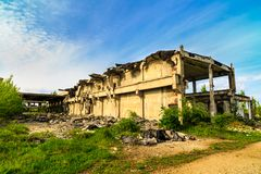 Construções, ruínas imagens de stock