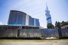 Construções sob a construção em Batumi, Geórgia Fotografia de Stock Royalty Free