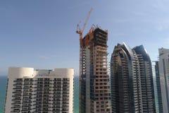 Construções sob a construção Sunny Isles Beach Foto de Stock Royalty Free