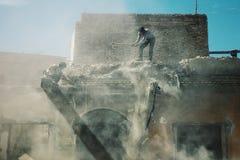 construções sob a demolição em torno da cidade velha foto de stock royalty free