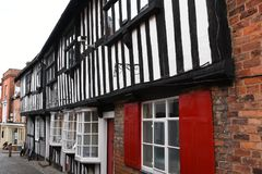 Construções suportadas históricas, Ledbury, Herefordshire, Inglaterra fotografia de stock royalty free
