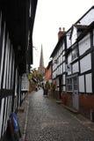Construções suportadas históricas, Ledbury, Herefordshire, Inglaterra fotos de stock royalty free