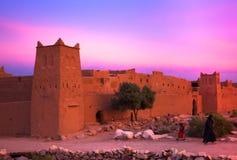 Construções velhas da argila em Maroko sul Foto de Stock