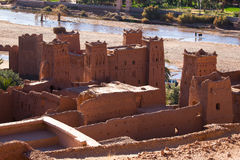 Construções velhas da argila em Maroko sul Fotos de Stock Royalty Free