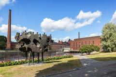 Construções velhas da fábrica em Tampere, Finlandia Imagens de Stock Royalty Free