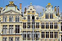 Construções velhas de Bruxelas Grand Place Imagens de Stock Royalty Free