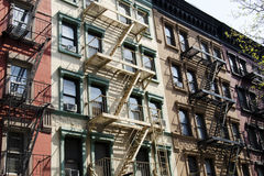 Construções velhas de New York City Imagens de Stock