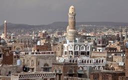 Construções velhas de Sanaa fotografia de stock royalty free