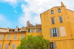 Construções velhas em Aix-en-Provence, França sul Fotos de Stock